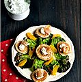 ☆ calendrier de l'avent : 1 surprise par jour ☆ jour 21 : salade de fête à l'orange et ses blinis à l'esturgeon fumé
