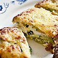 Gratin de courgettes au fromage frais de brebis