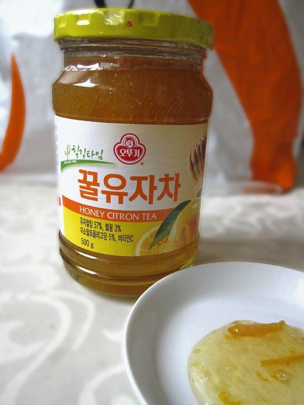 confiture de yuzu marque coreene
