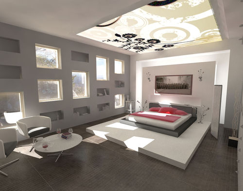 chambre design gris rose - Photo de chambres design - deco design