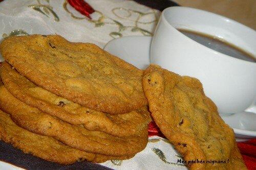 Cookies très moelleux aux raisins secs