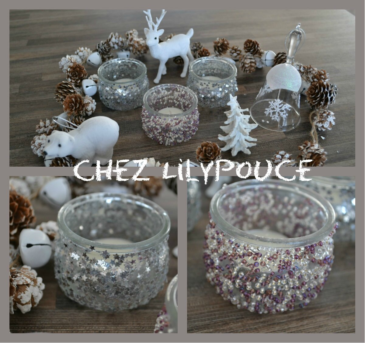 diy photophores de noel chez lilypouce. Black Bedroom Furniture Sets. Home Design Ideas