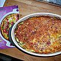 Clafoutis de courgettes et jambon italien