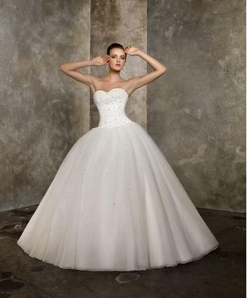 robe de mariée perline devant