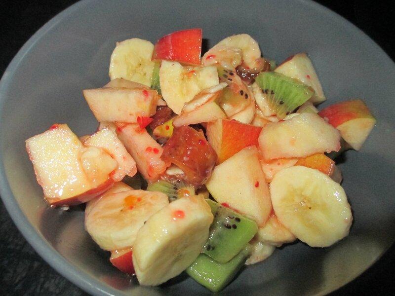 Salade de fruits d 39 hiver vitamin e cuisine v g tarienne - Variete de salade d hiver ...