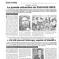 Le quotidien: interview de thierry michel au fespaco 01/03/2013