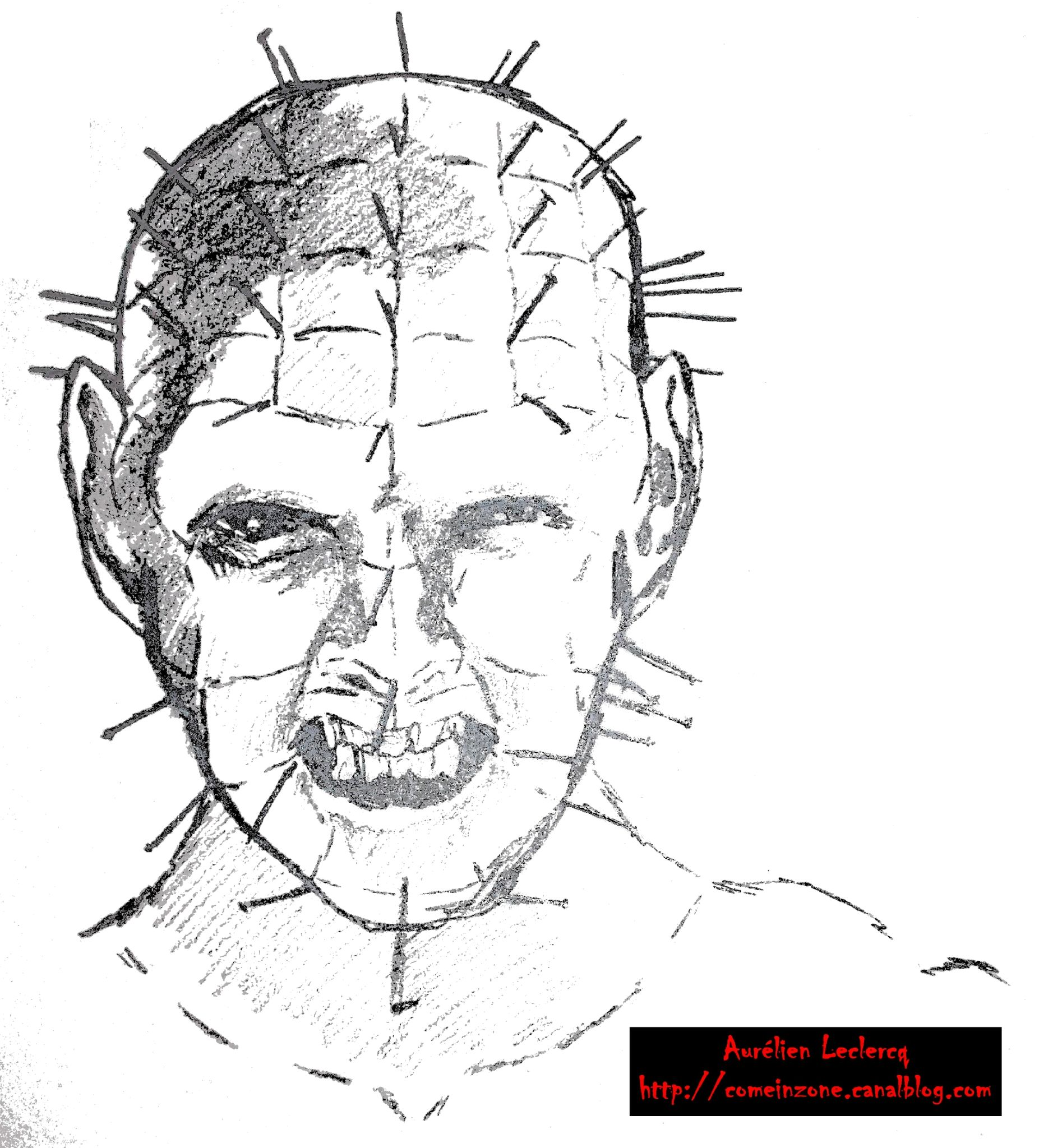 Anciens dessins hellraisers come in zone - Dessin horreur ...