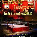 Catch-impro, aux trois maures, le 11 octobre 2012 à 20h30