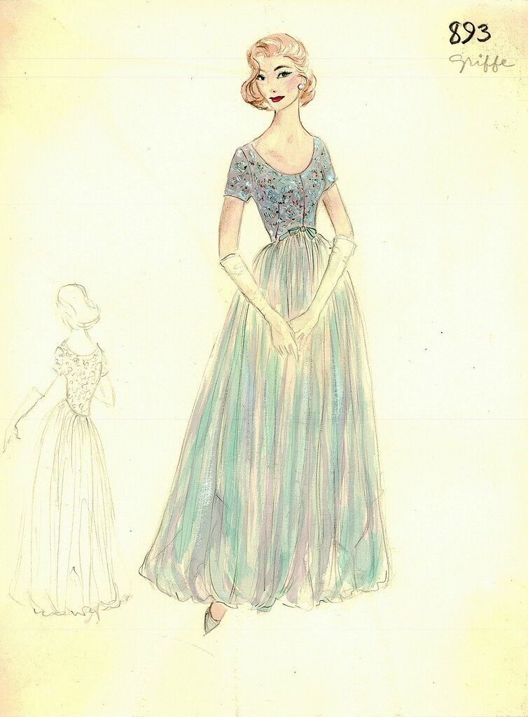 Bergdorf Goodman Archives. Coctail & Evening Dresses: Jacques Griffe