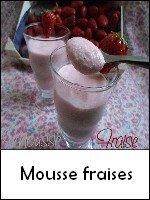 mousse fraise