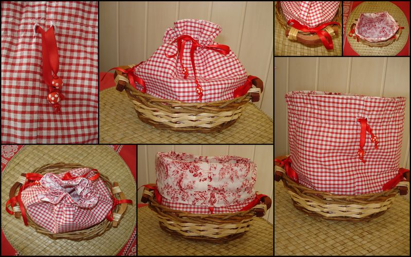 Couture d 39 une pani re pain au fil des coutures - Sac a pain tissu ...