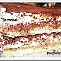 Tiramisu qui se coupe en part