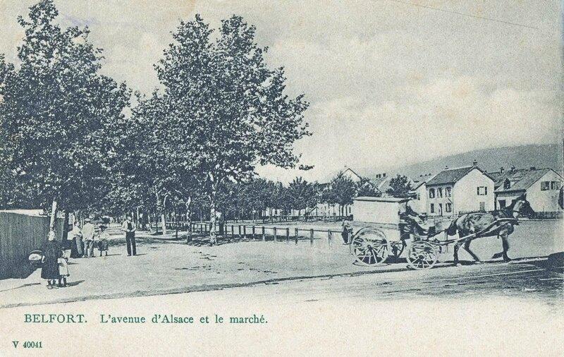 CPA Belfort Place du Marché 1910-14