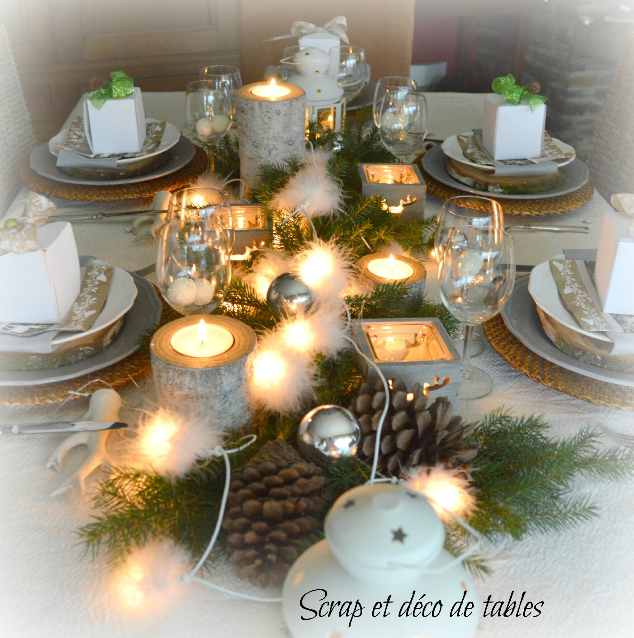 Deco de tables no l 2014 th me nature scrap et d co de tables - Photos de decoration ...