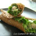 Wraps  la salade de poulet, sans gluten