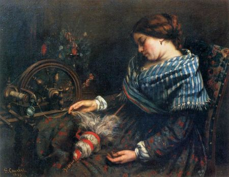 Gustave_Courbet___The_Sleeping_Spinner___WGA05461