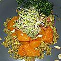 Courge longue de nice sur lit de quinoa 3 saveurs - sans gluten et vegan