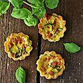 Mini quiches aux courgettes, jambon et ricotta