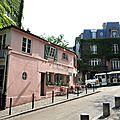 Paris, rue de l'Abreuvoir, maison rose (75)