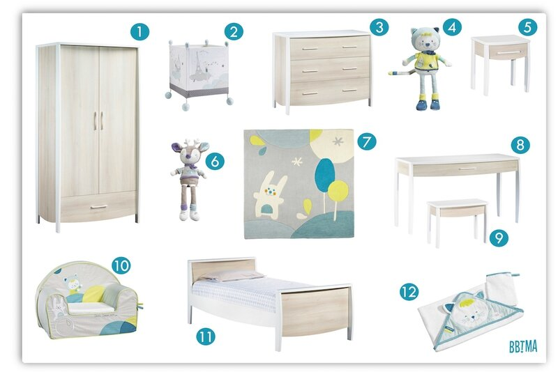 Sélection Sauthon chambre enfant décoration déco kids kidsroom lit armoir fauteuil club junior tabouret bureau doudou commode milk bleu table de chevet bbtma blog maman parents enfant bébé kids 1 - copie