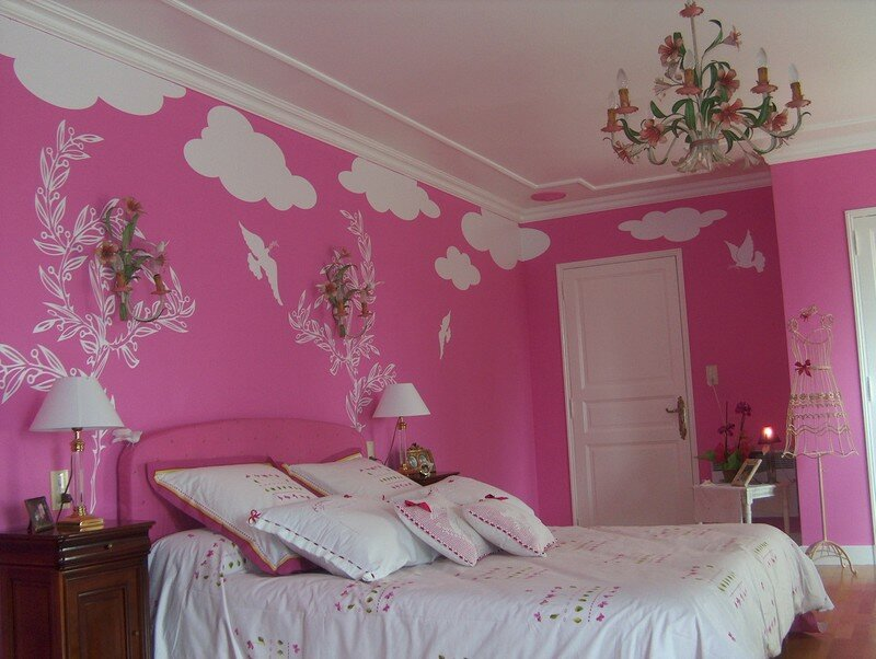 3 chambre rose photo de d co d 39 interieur bien vu. Black Bedroom Furniture Sets. Home Design Ideas