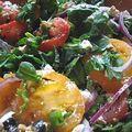 Salade colorée aux épinards frais / kolorowa sałatka ze świeżym szpinakiem