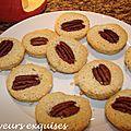 Bouchées aux amandes et noix de pécan