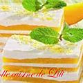 Mousse citron et gelée de mangue