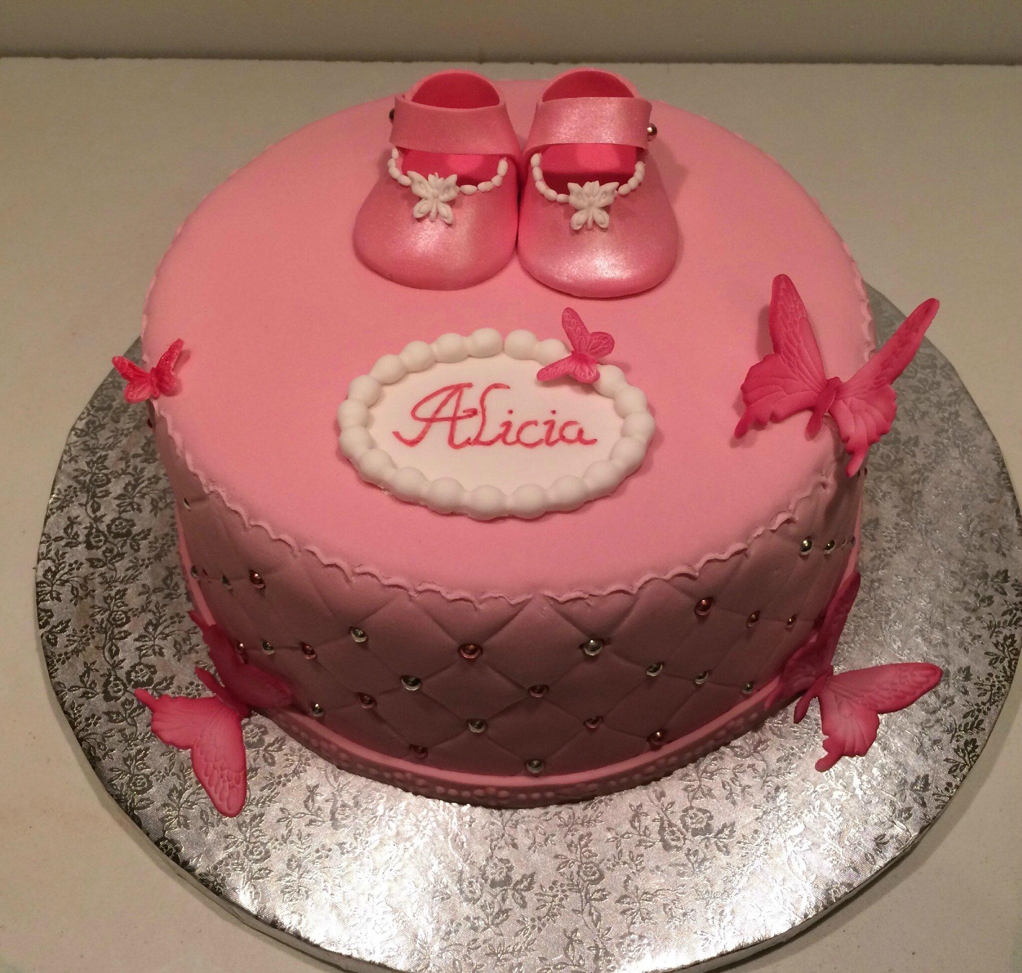 Gâteau chaussons et papillons