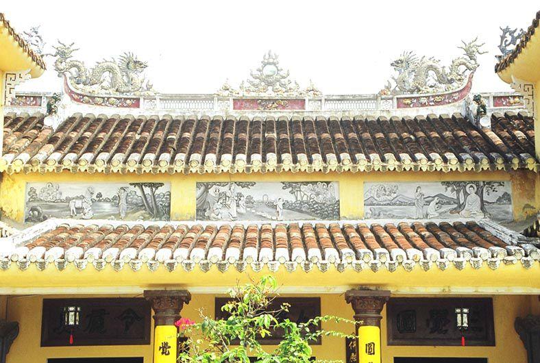 HOI AN - temple jaune, détail