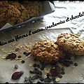 Cookies aux flocons d'avoine, cranberries et chocolat
