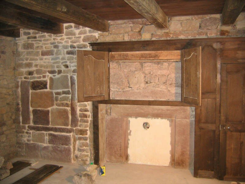 restauration des boiseries du salon la grotte maline. Black Bedroom Furniture Sets. Home Design Ideas