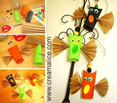 Activit manuelle halloween chauves souris r cup - Deco halloween chauve souris ...