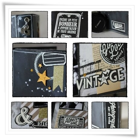 collage chalkboard