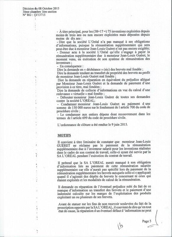 GUERET L'OREAL 5