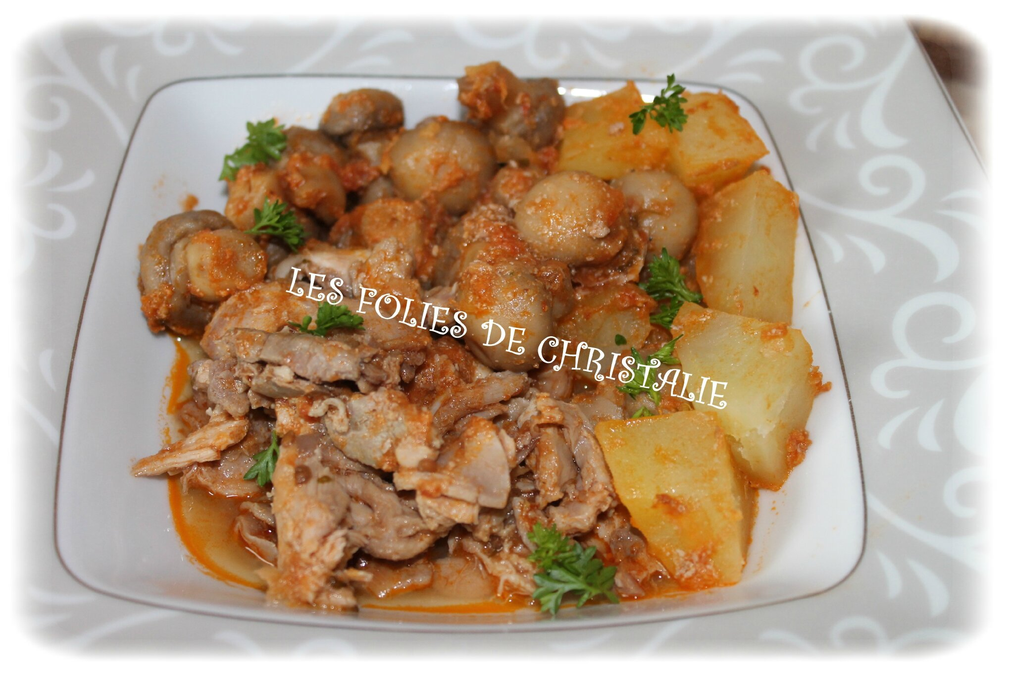 Lapin Marengo (Thermomix)