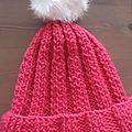 Bonnet rose de fille