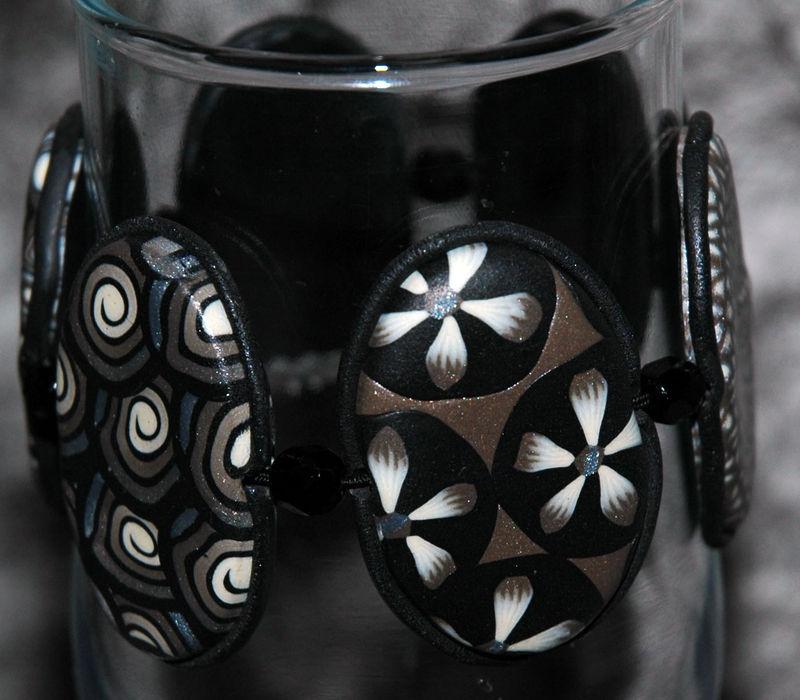 Orage - Bracelet en pâte Fimo 2