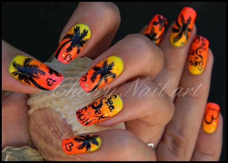 Les nail art tendance du moment nail elle for Faux palmier deco