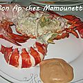 Homard sauce orange et bonne et heureuse anne 2013