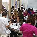 2.4)Soins des esthéticiennes à des apprenantes de la Croix Rouge
