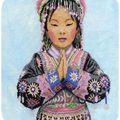 Thai Hilltribe Girl de Lanarte - Brodé sur toile 16 fils pour offrir