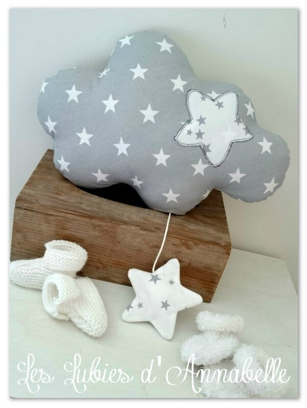 coussin musical nuage