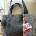 Urban bag - big - laine - milleraies rouge