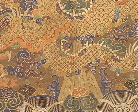 A_Tibetan_chuba_of_Chinese_brocade_silk_with_fur_trim4