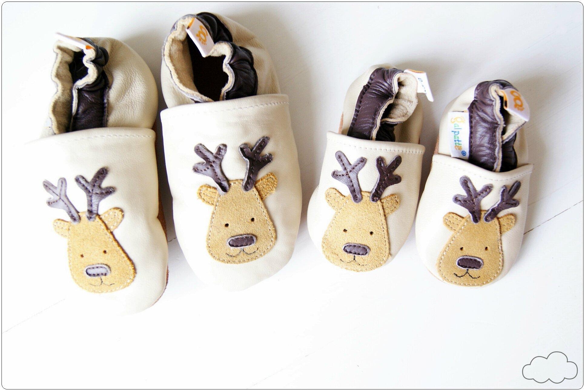 chausson en cuir bébé