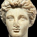 A greek marble head of a youth, classical period, circa 4th century b.c.