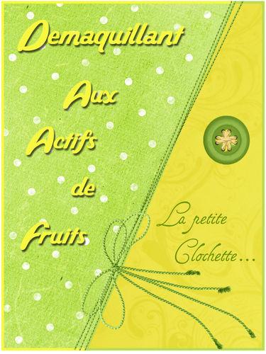 Demaquillant fruits