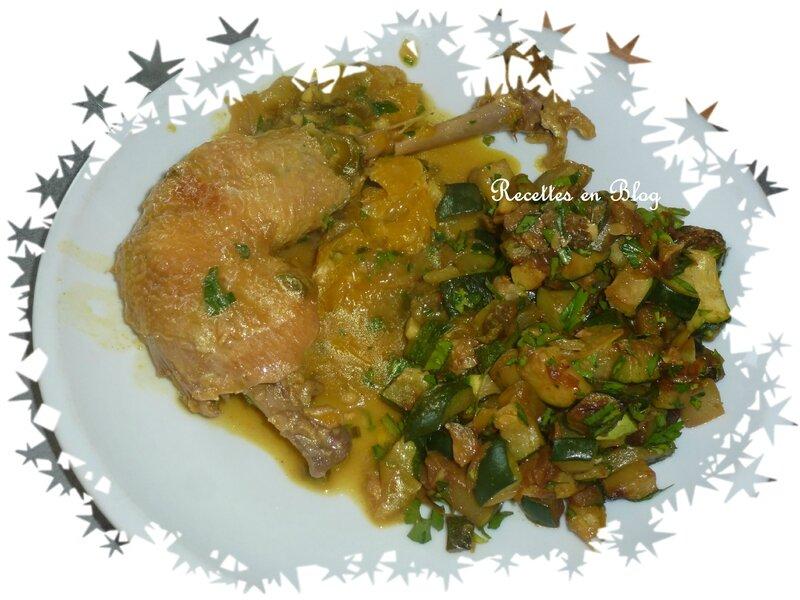 poulet à l'orange curry1