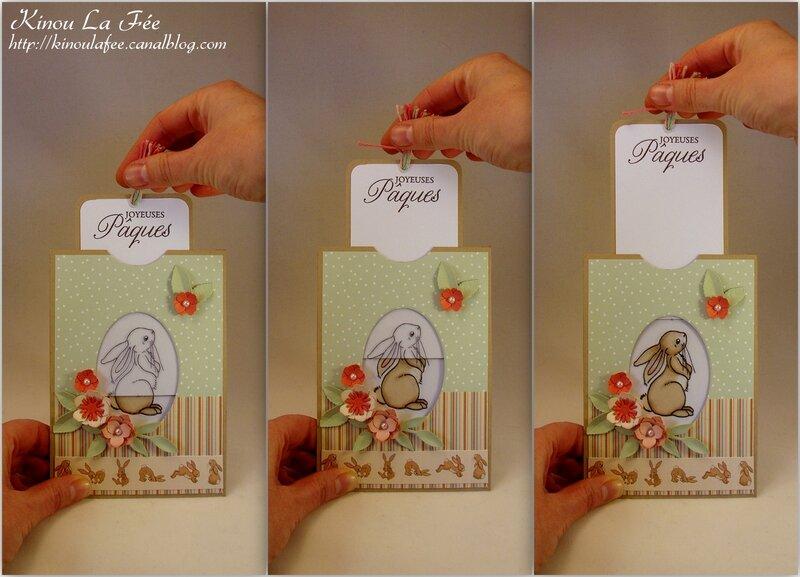 Carte Magique Pâques Lapin Belle et Boo 2